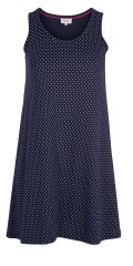 Zizzi - Dress without sleeves, with round neck and white dots