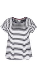 Zizzi - T-shirts with stripes and round neck