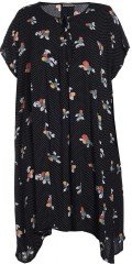 Gozzip - Tunica dress in nice print with short sleeves also hard sewn tie string in the neck