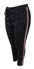 Cassiopeia - Leisure pants with striped galon in the sides also 2 sloping pockets