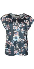 Cassiopeia - Anella t-shirt with round neck and short sleeves also nice flowery print