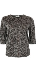 Vanting  - Vanting party blouse with silver thread and 3/4 sleeves