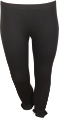 Zoey - 7/8 leggings in strechy material with rubber band in the waist and flounce edge at the bottom