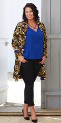 Zoey - Kardigan/kimono med lange ermer i hard stoff