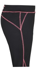 Zhenzi - Fitness 3/4 pants in strechy material with rubber band and line in the waist