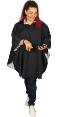 Gozzip - Rain poncho with cap, is closed in neck and sleeves with press studs