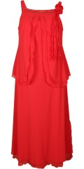 Kirsten Krog Design - Elegant and exclusive red dress with straps