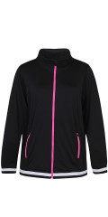 Zhenzi - Nice strechy fitness sweater with zip fasteners in contrasting colors