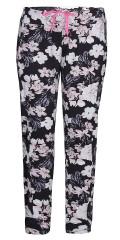 Zhenzi - Blomstret fitness leggings med strikk og line i taljen, sydd i strechy materiale