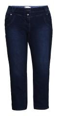 Zhenzi - Salsa pants, denim med bælte stropper, regulerbar elastik i taljen og 5 lommer