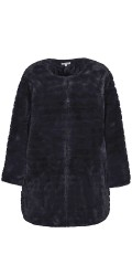 Zhenzi - Nice fake fur jacket with lining and coloured clasps