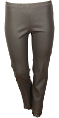 Zhenzi - Twist pants, coated twill legging fit med super strech og elastik i hele taljen