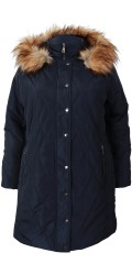 Cassiopeia - Safira quilted jacket with detachable cap and fur collar also storm flap in the sleeves