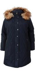 Cassiopeia - Safira vatteret jakke med aftagelig hætte og pels krave samt vindfang i ærmerne