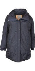 Cassiopeia - Amalie quilted jacket with wide collar/cap and rib storm flap in the sleeves