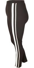 Cassiopeia - Delina 7/8 legging mit Elastik in ganze die Taille und galoner an den Seiten
