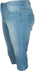 Zizzi - Jeans emily denim capri curvy hip with stretch