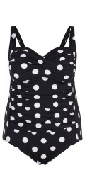 Zizzi - Bathing suit with adjustable straps and quilted padding at the top.