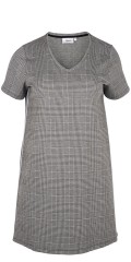 Zizzi - Hot chequered dress with fasion galon in the side
