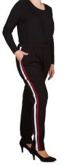 Adia Fashion - Pants with little stretch and rubber band in the waist also belt straps