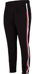 Adia Fashion - Byxor med lite streck och gummiband i midjan och hällor