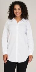Sandgaard - Basis loose skjorte med strekk