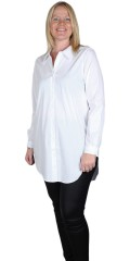 Sandgaard - Basis loose skjorta med streck