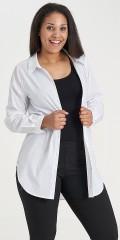 Sandgaard - Basis loose skjorte med strekk, som kan knappes ganske opp i kraven