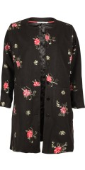 Studio - Soft and stylish lined jacket with nice embroidered flowers