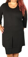 Studio Clothing - Strechy tunica dress with 3/4 sleeves and tall vents in the sides also centrally front