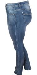 Vanting  - Super strechy slim denim jeans med wash effekt