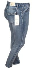 Vanting  - Super strechy slank dongeri jeans med vask effekt