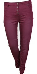 Samba Hosen, Twill, super schlank fit mit super Stretch und Regulierbar Elastik in die Taille