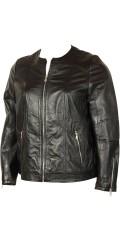 Zhenzi - Fin lammeskinn jakke i biker stil