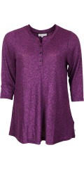 Zhenzi - T-shirt with 3/4 sleeves in a-shaped, sewn in strechy material