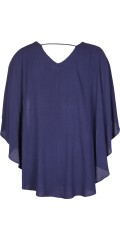Studio Clothing - Blouse in light crep with hard sewn cape over back and sleeves
