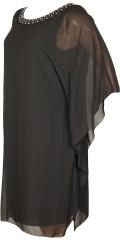 Kirsten Krog Design - Chiffon Kleid in Schicht auf Schicht mit hübsche Stein in der Hals.