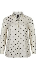 Adia Fashion - Dotted shirt with long sleeves and fine cut