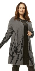 Adia - Cardigan in forceful knit with nice print