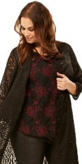 Adia Fashion - Top with impressive nice lace and sewn underneath top