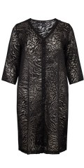 Adia - Long all-buttoned shirt in smart transparent animal print