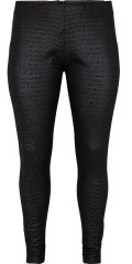 Adia - Leggings pants in snake look, zipper in the back also wide rubber band in the sides in the waist