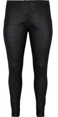 Adia - Leggings bukser i snake look, glidelås i ryggen samt vid strikk i sidene i taljen