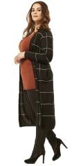 Adia - Cardigan i tynd strik med lange ærmer