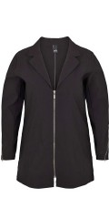 Adia Fashion - Half long light cardigan jacket with really good stretch and is closed with zipper