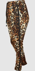 Zoey - Amalie leopard pants with rubber band and line in whole the waist also 2 pockets