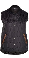 Zoey - Daniella quilted vest/jacket without sleeves, with 2 pockets, is closed with press studs