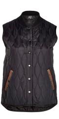 Zoey - Daniella vattert vest/jakke uten ermer, med 2 lommer, lukkes med trykknapper