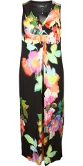 Q´neel - Nice long party dress in although flowery fabric