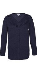 Zhenzi - All-buttoned cardigan with fine flounce